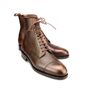 Brown Scotch Grain Leather Jumper Boots