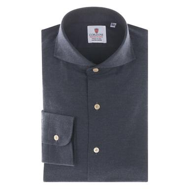 Blue Cotton Flannel Shirt