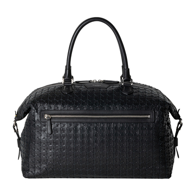 Black Mosaico Leather Travel Bag