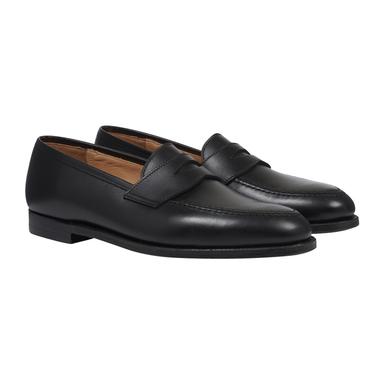 Black Calfskin Bradley Penny Loafers