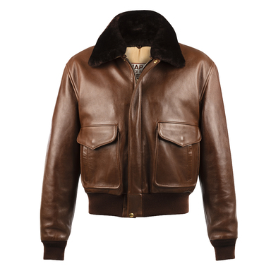 Brown Sheep's Leather USAAF Bomber Jacket