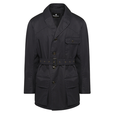 Navy Grenfell Cloth Shooter Jacket