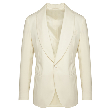 White Wool Capodimonte Dinner Jacket