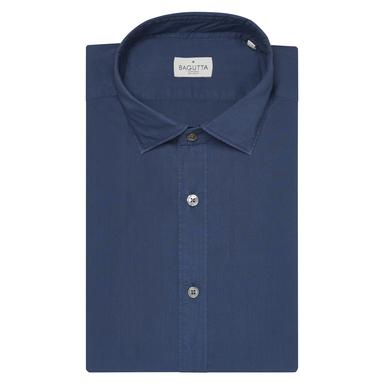 Indigo Blue Cotton Berlin Shirt