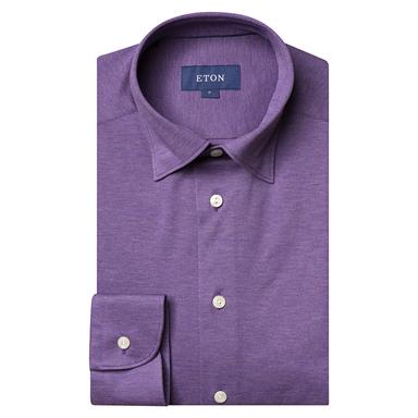 Purple Slim Fit Turquoise Piqué Long Sleeve Cotton Polo Shirt