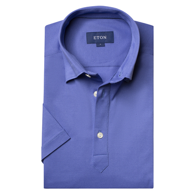 Cornflower Short Sleeve Contemporary Jersey Fit Polo Shirt