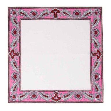 Pink Waves Linen Pocket Square