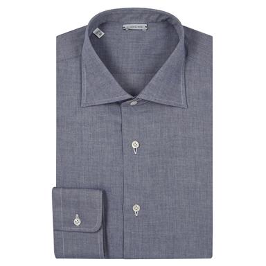 Steel Blue Cotton Shirt