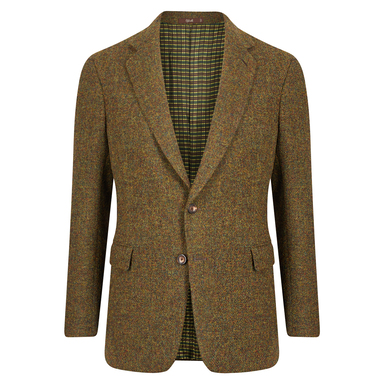 Green Melange Single Breasted Jacket