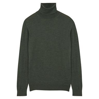 Light Green Wool Rollneck Jumper