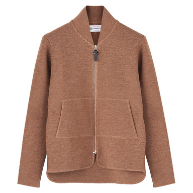 Caramel Wool Long Sleeve Car Vest