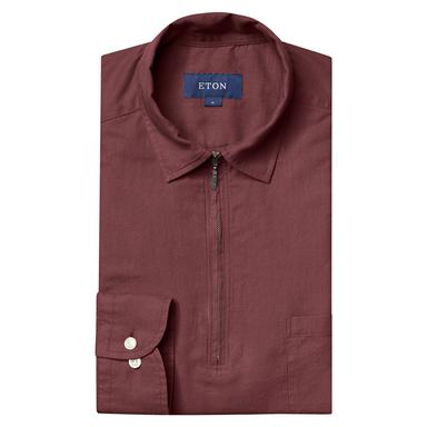 Red Half-Zip Shirt