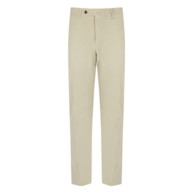 Off-White Cotton Flat Fron Chinos