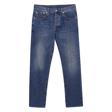 Blue Cotton Denim John Trousers