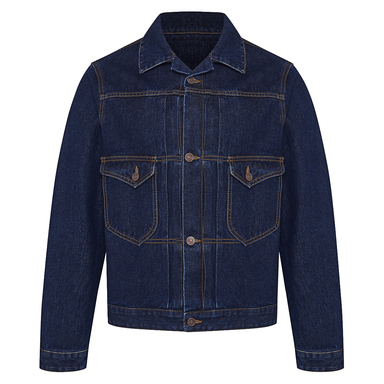 Dark Cotton Denim Cycle Jacket