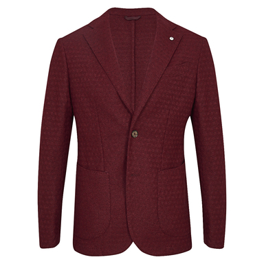 Burgundy Limited Edition Single-Breasted Patch Pocket Jacket