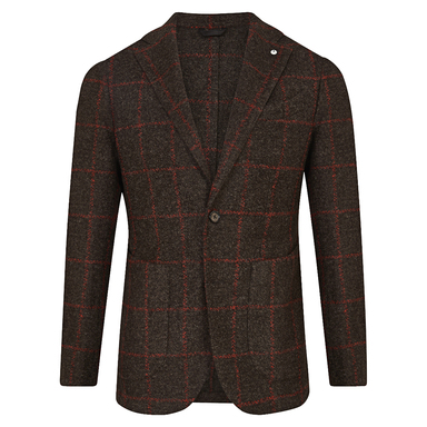 Brown & Red Windowpane Check Limited Edition Jacket