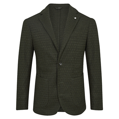 Green Limited Edition Single-Breasted Patch Pocket Jacket