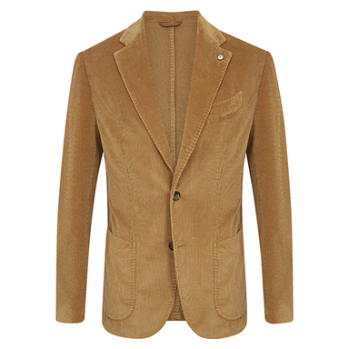 Gold Corduroy Limited Edition Single-Breasted Patch Pocket Jacket