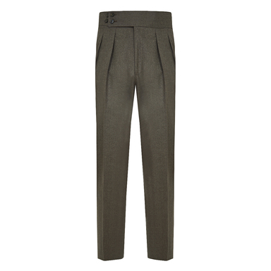 Brown Double Pleated Trousers