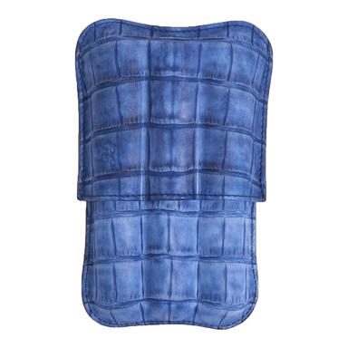 Japanese Blue Porosus Crocodile Three-Cigar Case