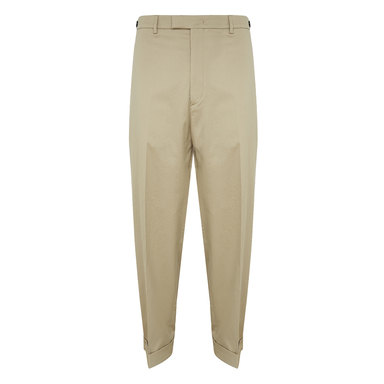 Mizzle Beige Cotton and Linen Chino