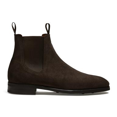 Granhult Dark Brown Suede Chelsea Boot