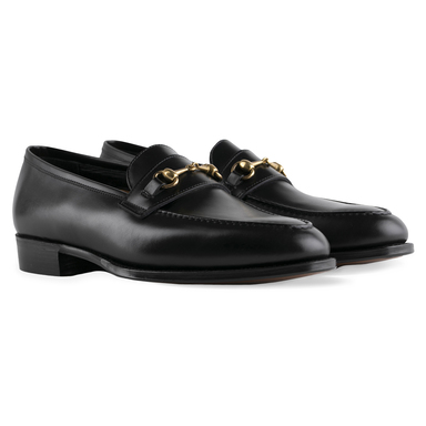 Black Calf Leather Colony Bit Loafer
