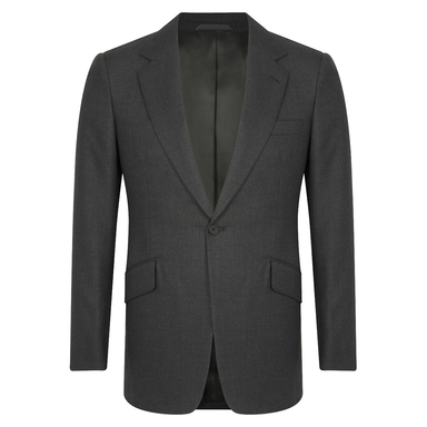 Grey Wool Twill Single-Breasted Suit