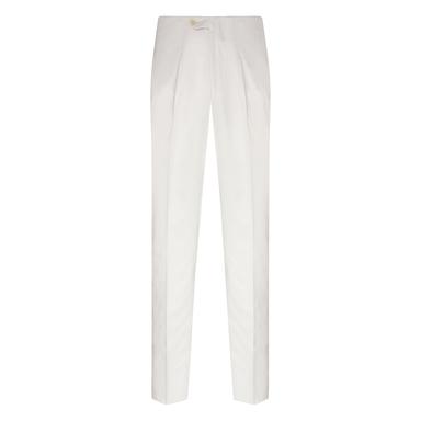 White Loro Piana Cotton Sport Trousers