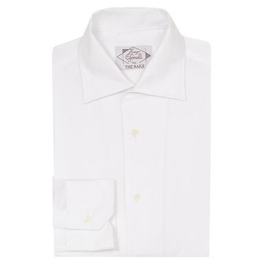 White Cotton One-Piece Collar Sport Shirt