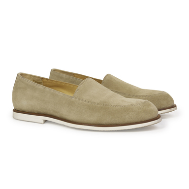 Beige Suede Loafers