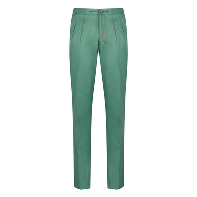 Turquoise Cotton Jogging Trousers