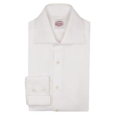 White Linen Two-Button Cuff Shirt
