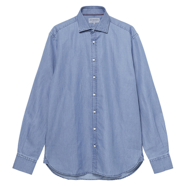Blue Cotton Ortica Chambray Shirt