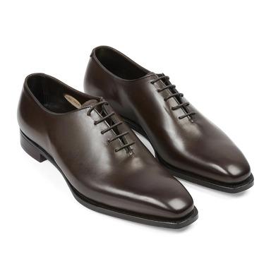 Dark Brown Leather Alan Wholecut Shoes