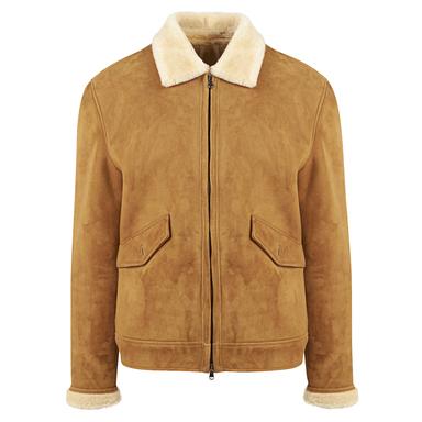Honey Shearling Zipped Jacket