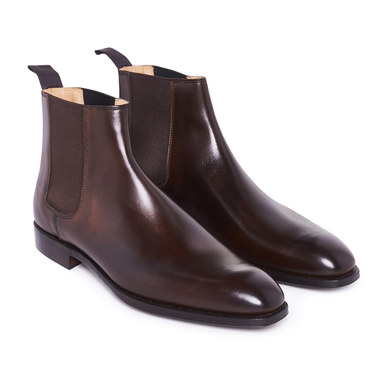 Brown Calf Leather Robert Chelsea Boots