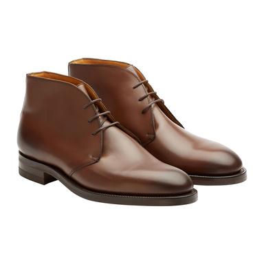 Dark Oak Leather Banbury Chukka Boots