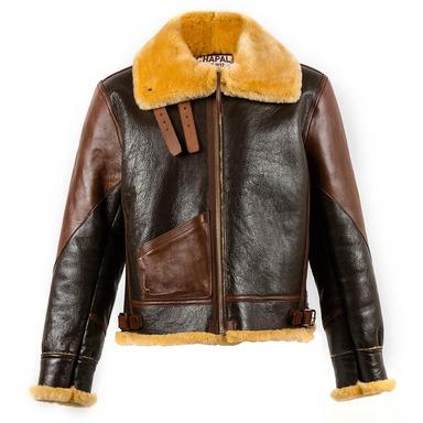 Dark and Light Brown B3 Shearling Jacket
