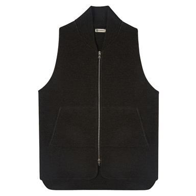 Brown Wool Drop Back Car Vest