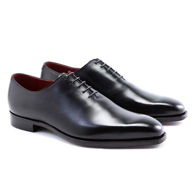 Black James Calf Leather Oxfords