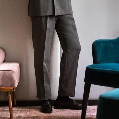 Grey Wool Genny Suit Trouser