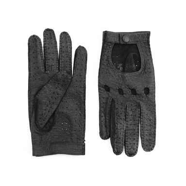Black Peccary Driving Gloves