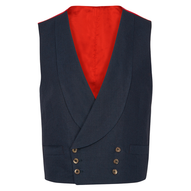 Navy Irish Linen Signature Waistcoat