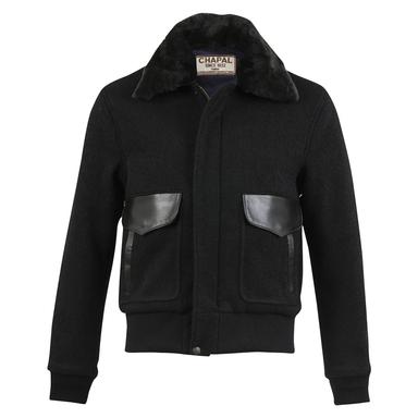 Black Boiled Wool USAAF Flight Jacket