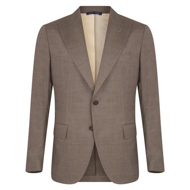 Light Brown Virgin Wool Single-Breasted Mergellina Suit