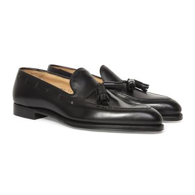 Black Calf Leather Adrian Tassel Loafer