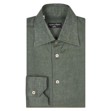 Angelo Inglese for RTG Green Linen Shirt