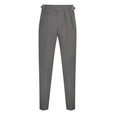 Light Grey Hopsack Wool Manny Trousers